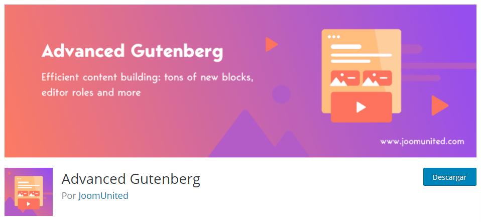 plugin para potenciar al máximo el editor gutenberg en WordPress